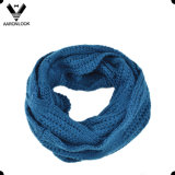 Solid Color Cozy Acrylic Jacquard Cable Pattern Neck Scarf
