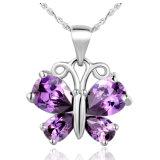 Ожерелья 3 чокеровщика серьги кольца бабочки способа ювелирные изделия PCS медного кристаллический установленные