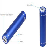 Portable 2600mAh Mobile Phone Power Bank com tocha de luz