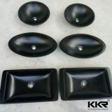 黒い固体表面の石造りの樹脂の浴室の洗面器(B1706092)