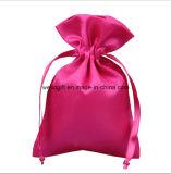 Petits sacs faits sur commande de poche de satin de cordon de faveur de cadeau de mariage