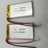4X30X48mm 3.7V Navulbare Li-Polymeer 600mAh Batterijcel met PCM en Draden