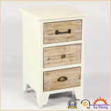 3 gavetas Cottage Style Wooden Storage Nightstand and Chest