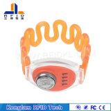 Wristband de medida ajustável do silicone de RFID para pacotes do aeroporto