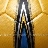 Размер 5 высокого качества отсутствие прокатанного стежком шарика футбола неподдельной кожи спички