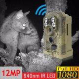 câmera infravermelha da fuga da caça do IR do preto da visão noturna de 940nm MMS GPRS 1080P 12MP
