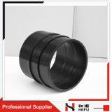 Borde plástico barato del tubo de agua del suelo del negro del HDPE del acoplador