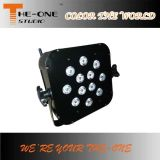 Sans fil 12X17W RGBWA + UV 6in1 LED Flat PAR Can