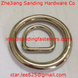 """per il nichel del sacchetto anello a """"D"""" del metallo saldato/anello a """"D"""" del metallo"""