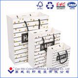 Мешок подарка печатание логоса поставщика фабрики Китая бумажный с ручками