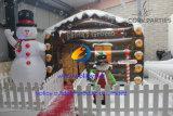 Het opblaasbare Huis van de Grot van de Kerstman van Kerstmis
