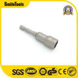 """1/4 """" socket Hex magnético del dígito binario de destornillador de la asta del impacto del adaptador"""