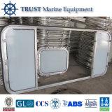Het mariene Dubbele Venster van het Aluminium van het Blad Glijdende met Certificaten