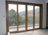Porta de vidro de deslizamento de alumínio resistente Home
