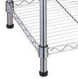 착색하거나 크롬 도금을 하는을%s 가진 조정가능한 진열대 3 층 선반 철사 선반설치 금속 선반