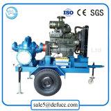 Una spaccatura motorizzata diesel di 8 pollici che mette la pompa ad acqua in una cassa centrifuga