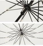 16 عظم خيزرانيّ مقرضة قوّيّة أروميّ [وتر ربلّنت] مستقيمة [رود] مظلة ريح صلبة مستقيمة عظم فنّ مروحة مظلة طويل