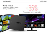 Франтовское видеоий коробки 1+8GB 4k коробки T95n миниое Mx+ S905X Android TV TV