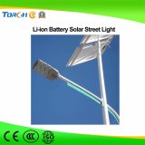 IP66 imperméabilisent le réverbère solaire du détecteur de mouvement de l'éclairage 30W de jardin DEL