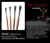 комплект щетки картины художника ручки Nylon волос 3500f деревянный