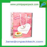 Zoll gedruckter Papppapiertote-Einkaufen-Handtaschen-Geschenk-Beutel