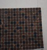 Luz de madera vendedora caliente 2017 y mosaico de cristal cuadrado oscuro de Brown para la venta