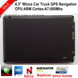 Hot Sale 4.3inch HD Définition Vehnicle Car Truck Navigation GPS avec 128MB de DDR; Transmetteur FM Flash 4 Go, Portable Navigateur GPS G-4311