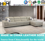 Sofá comercial moderno del cuero de la sala de estar fijado (HC2082)