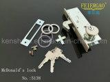 Glissant Lock-2 latéraux s'ouvrent pour le blocage de porte de boulon de glissière/blocage 4070-C de crochet