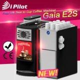 커피 기계를 받아 넣는 Gaia E2s 상단 정격 콩