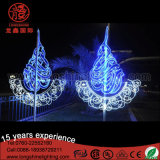 Outdoor LED Star Moon Light Ramadan Pole Street Light Decoração