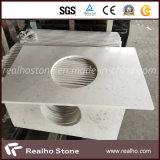 浴室Vanitytop/台所カウンタートップのための人造の人工的な白い灰色のViensカラーラの水晶石