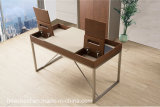 Einfacher neuer Art-Büro-Tisch mit Leder (WE02)