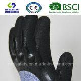 Handschoen van het Werk van de Veiligheid van de besnoeiing de Bestand met Zandig Met een laag bedekt Nitril