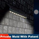 2017 diseño único solar arandela de la pared de luz LED de luz Publicidad useing