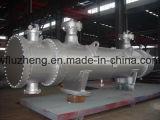 シェルおよび管の熱交換器、固定管の版の熱交換器