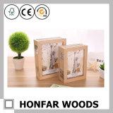 Décoration en bois rustique de cadre de tableau d'impression de dessin animé