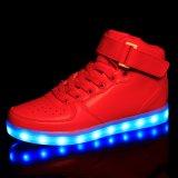 Зашнуруйте вверх ботинки людей способа вскользь ботинок обуви проблескивая новые в Китае