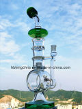 Recycler 유리제 수관을 판매하는 2017년 붕규산염 연기가 나는 관 스위스 Perc 유리제 수관 Hbking 상단