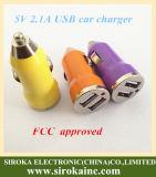 최신 판매 2.1A는 충전기 USB 차 이중으로 한다