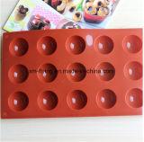 De moulages de chocolat de bille de grandes cavités du rectangle 15 de catégorie comestible demi, plateaux de glaçon de silicones