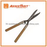 Tesouras retas da conversão da lâmina com os punhos de madeira da cinza