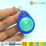 Nähe NTAG213 NFC Laser-Stich HF-13.56MHz Aqua Keyfob für Zugriffssteuerung