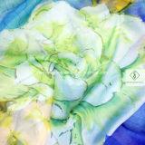 Neuer Entwurfs-handgemalte Schal-Dame Fashion Silk Scarf Factory