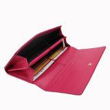 Le sac d'embrayage de cuir véritable avec le métal garnit le sac de soirée de Madame (SR-201411)