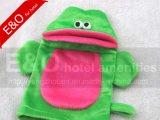 Frosch-Baby BADEKURORT Bad-Handschuh-Exfoliating Handschuh-Tierfrosch-Handmarionette