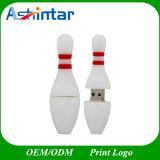 Movimentação do flash do USB dos desenhos animados da vara da memória do USB da esfera de bowling