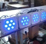 Wirelesss acima das latas da PARIDADE do diodo emissor de luz do disco de 7PCS 15W Rgbaw