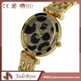Waterproof Large Round Dial Quartz Stainless Steel Watch