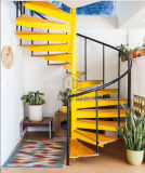 ガラス階段踏面が付いている現代階段